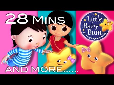 Twinkle Twinkle Little Star  Plus Lots More Nursery Rhymes  28 Mins Compilation  Little Ba Bum