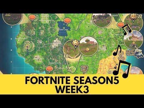 Fortnite Season 5 Week 3 Map Cheat Sheet