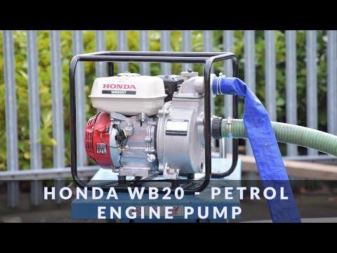 Honda WB20 - Petrol Engine Pump in action