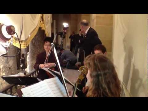 Eastman School String Quartet rehearsing for President Obama's Inaugural Luncheon