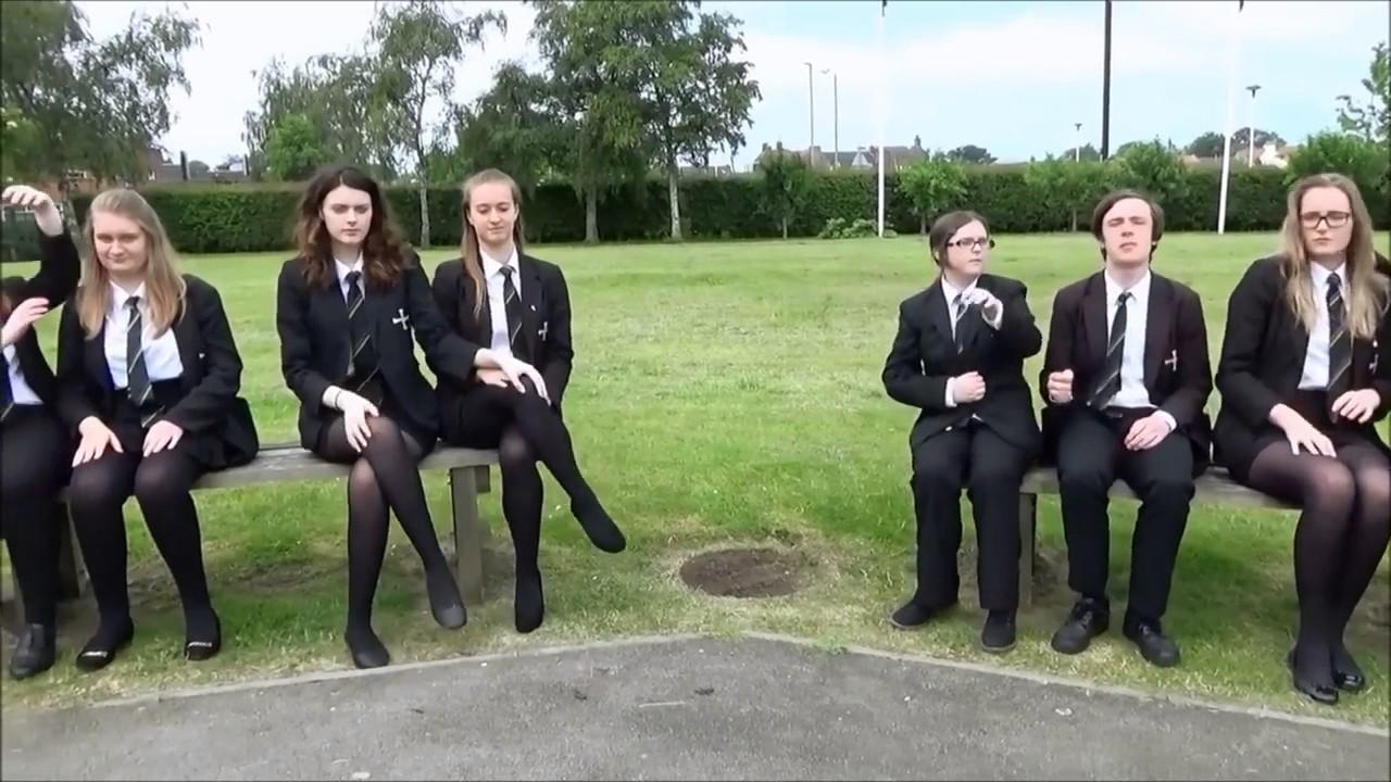 Schoolgirls In Black Tights