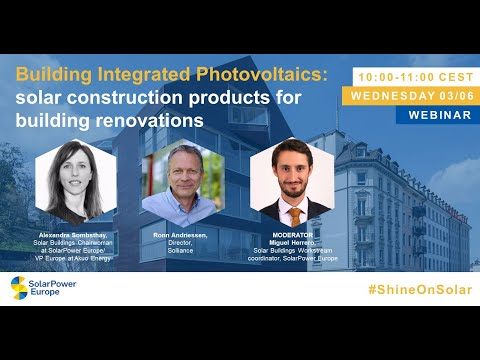 Webinar: Building Integrated Photovoltaics  solar construction products for building renovations