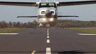 Cessna 210M Centurion low pass