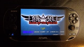 Garou Mark of the Wolves on PlayStation Vita! *Full complete playthrough* [HD] (Unofficial emulated)