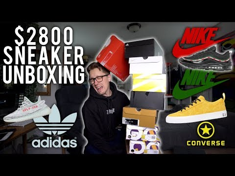 UNBOXING $2800 WORTH OF NEW SNEAKERS feat. RSVP Converse, Undefeated 97's, Yeezys, etc