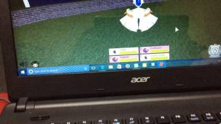 Playing Pokemon fighters ex on ROBLOX gameplay