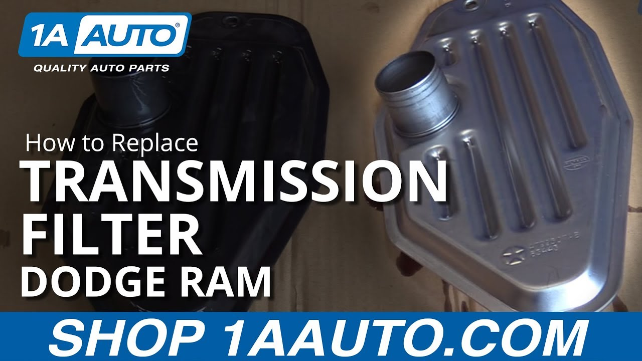 How to Replace Transmission Filter 02-10 Dodge Ram 1500