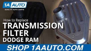 How to Install Replace Transmission Sump Filter 2002-10 4WD Dodge Ram 1500 BUY PARTS AT 1AAUTO.COM