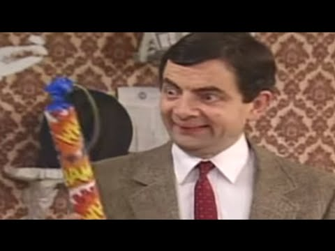 Mr Bean Painting A Room