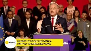 Biedroń na konwencji: oni wszyscy nas zawiedli! | OnetNews