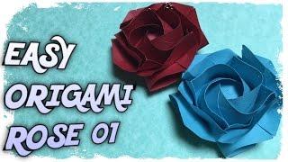 EASY ORIGAMI ROSE 01