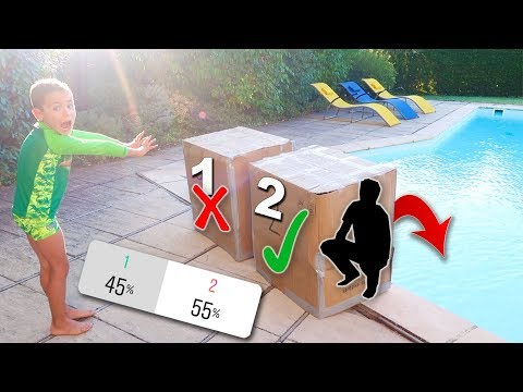 DONT Push the Wrong MYSTERY BOX into the WATER ! Cest vous qui décidez !
