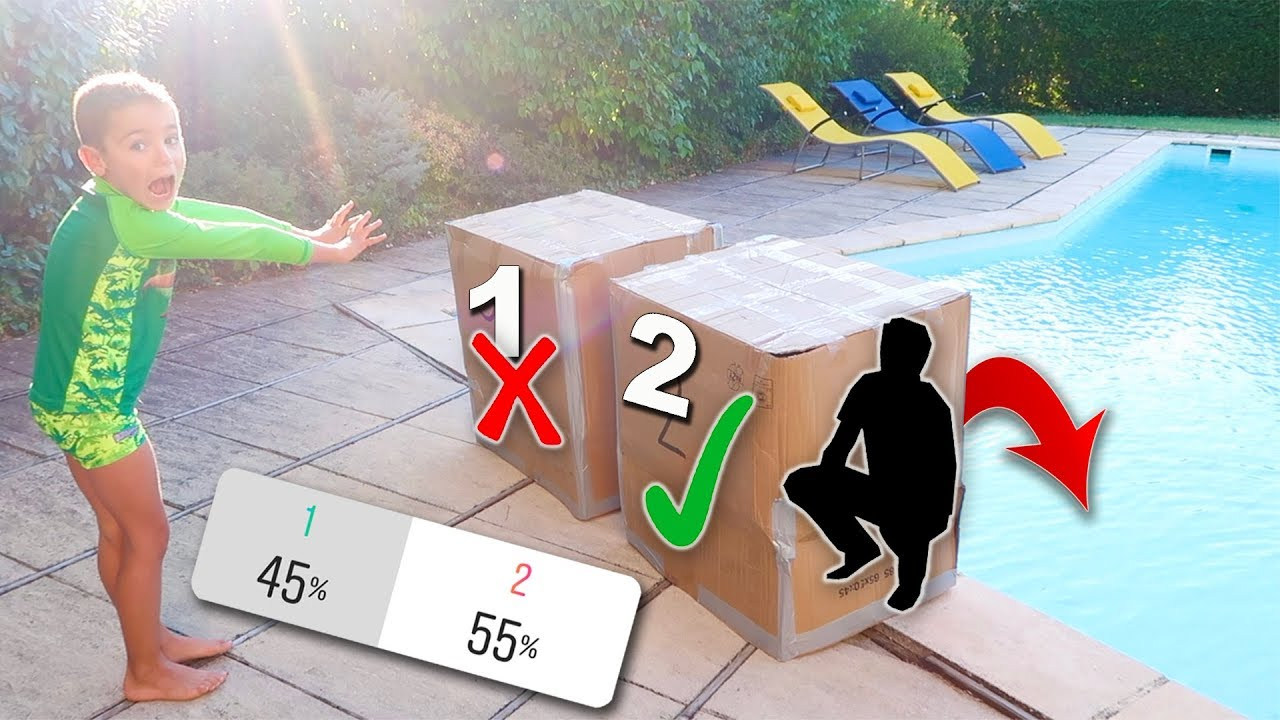 Download DON'T Push the Wrong MYSTERY BOX into the WATER ! C'est vous qui décidez !