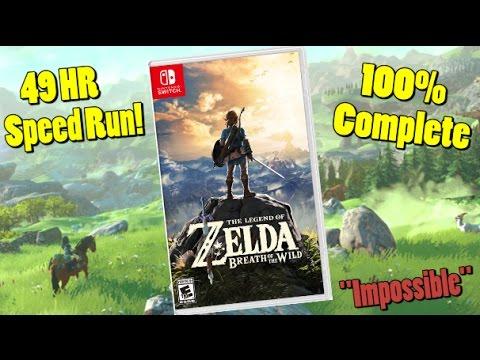 Zelda Breath of the Wild Beaten 100 Percent in 49 Hours