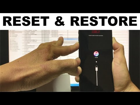 How to factory reset iphone 8 plus without password