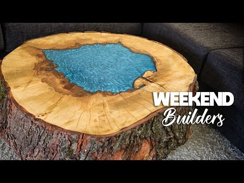 Epoxy Coffee Table (OUR FIRST TRY AND IT LOOKS AMAZING!) [subtitles included]
