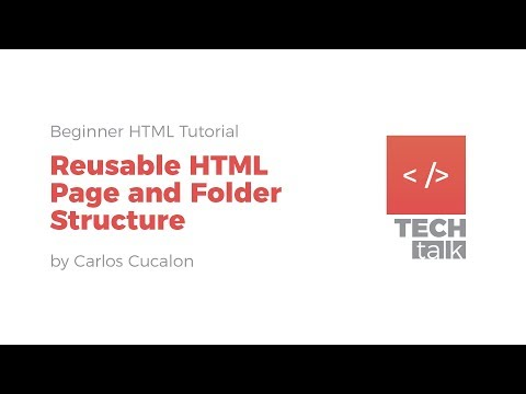 Reusable HTML Page And Folder Structure (Tutorial)