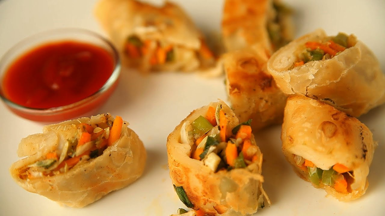 Spring rolls by archana vegetable spring rolls by archana vegetable roll easy quick snack recipe youtube forumfinder Image collections