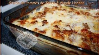 Recette de Gratin de Pommes de terre et Viande Hachee/Meat & Potato Gratin