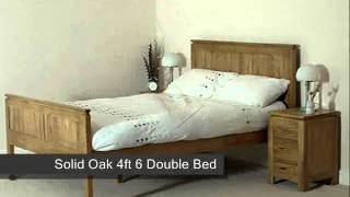 "Cambridge Solid Oak 4ft 6"" Double Bed"