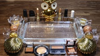 """Color Series Season3 Mixing """"GOLD"""" Makeup,Parts,slime... Into CLEAR Slime! """"GOLDSlime"""""""