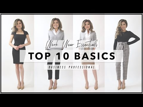 10 BASICS to Start Your Work Wardrobe | Workwear Essentials Every Woman Needs | Miss Louie
