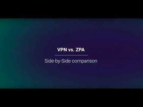 VPN vs  ZPA Side by Side Comparison