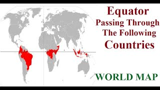 Countries On The Equator