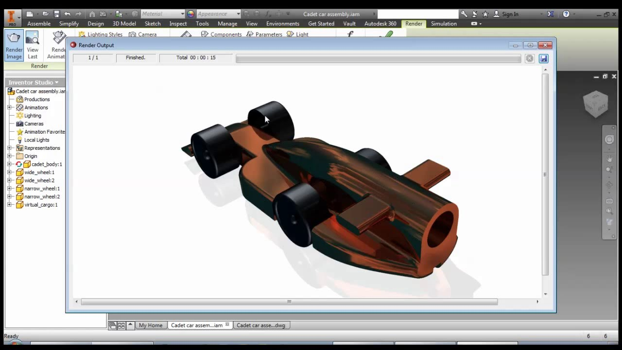 Autodesk Inventor - F1 in Schools Car - Part 11: Inventor Studio ...