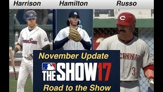 MLB The Show 17: November Update ALL PLAYERS - Russo - Hamilton - Harrison