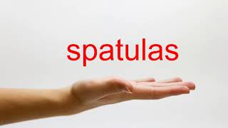 How to Pronounce spatulas American English