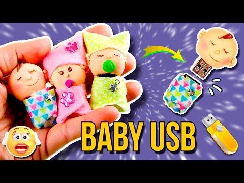 ¡BEBÉS en MINIATURA! * Decora tu MEMORIA USB 👶 DIY USB Flash Drive