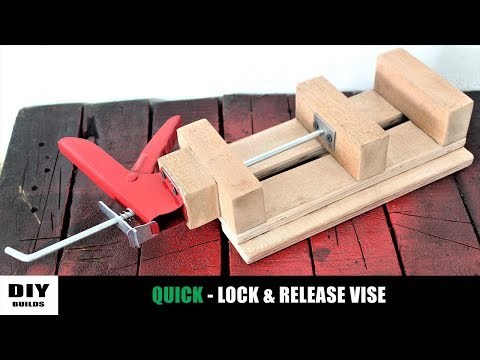 Make A Wooden Drill Press Vise | Diy Homemade Vise | DIY