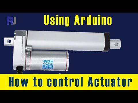 How To Control Actuator Using Arduino - Robojax