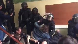 Catalonia referendum, police brutality