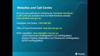 NSW Local Council By-elections Candidate Information Presentation Part 2