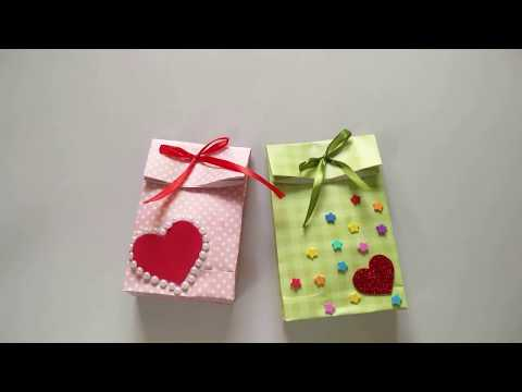 How to make paper gift bag | Tutorial | Easy origami | Paper bag |
