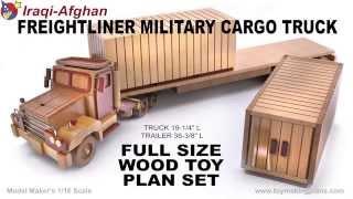 Wood Toy Plans - Iraqi-afghan Miitary Truck