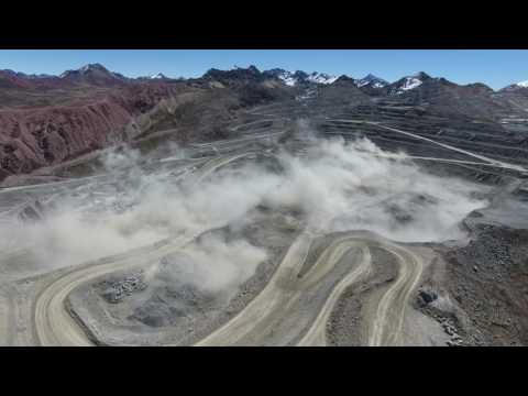 DJI PHANTOM 4 DRONE , DRONES IN MINING , DRILLING AND BLASTING , PERÚ 4971 m.s.n.m, MINE TOROMOCHO