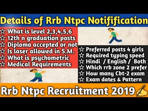 How to fill preferences in rrb ntpc | educational qualifications | Typing posts | Medical | Part-9🤨