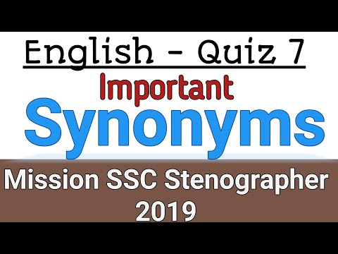 Synonyms Quiz 7 | Mission SSC Stenographer