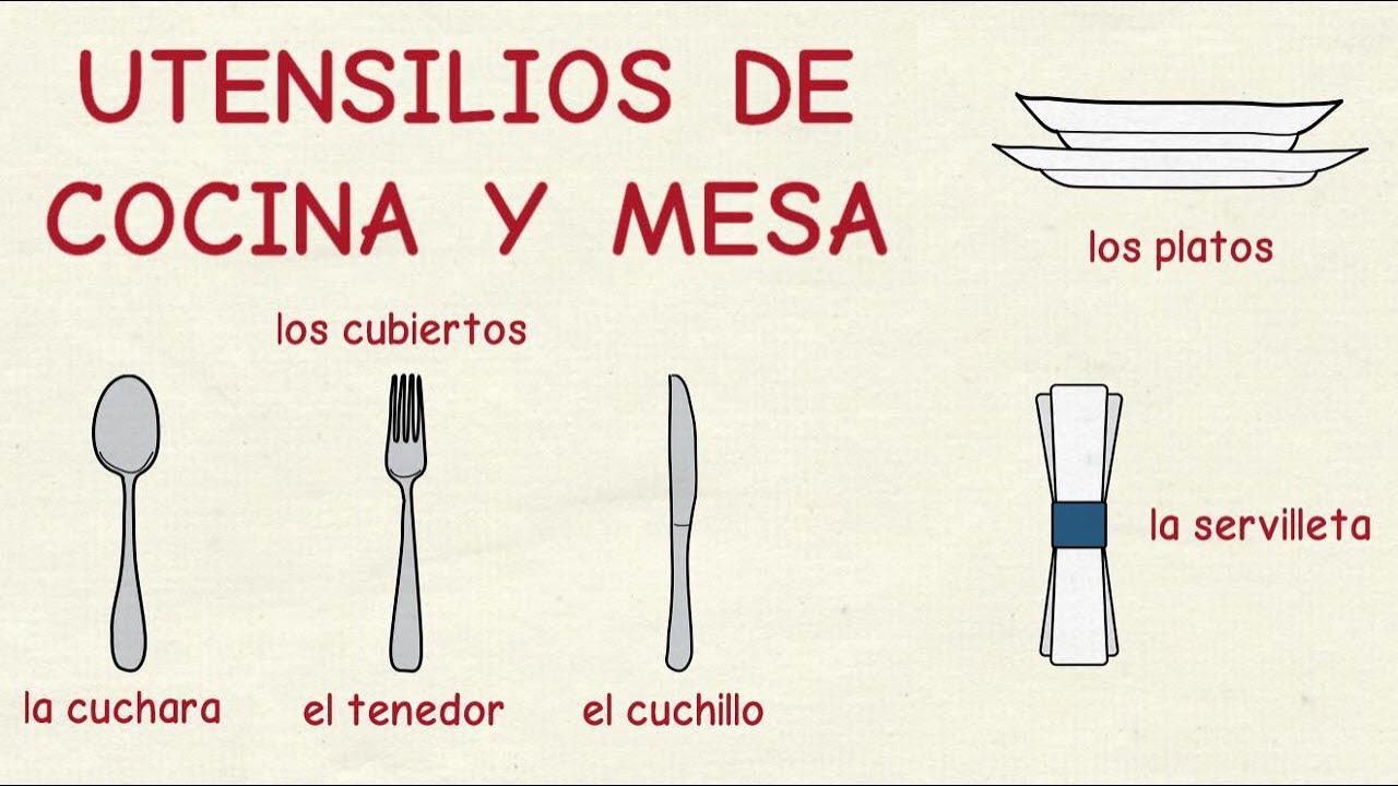 Aprender espa ol utensilios de cocina y mesa nivel for Utensilios de cocina antiguos con nombres