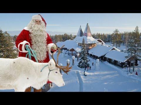 Villaggio di Babbo Natale Santa Claus in Lapponia Finlandia: Rovaniemi per bambini video turismo