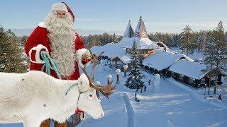 Villaggio di Babbo Natale Santa Claus Lapponia Finlandia Rovaniemi per bambini video turismo renne
