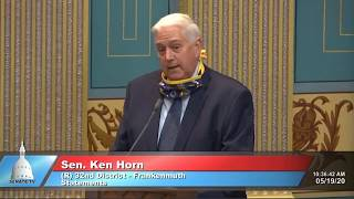 Sen. Horn on Memorial Day - We Will Remember