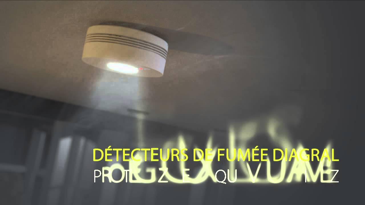 fonctionnement des d tecteurs de fum e interconnectables diagral youtube. Black Bedroom Furniture Sets. Home Design Ideas