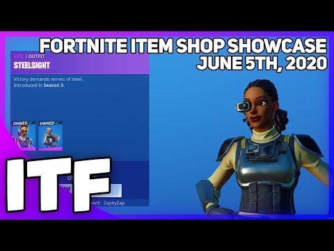 Fortnite Item Shop *RARE* STEELSIGHT IS BACK! [June 5th, 2020] (Fortnite Battle Royale)