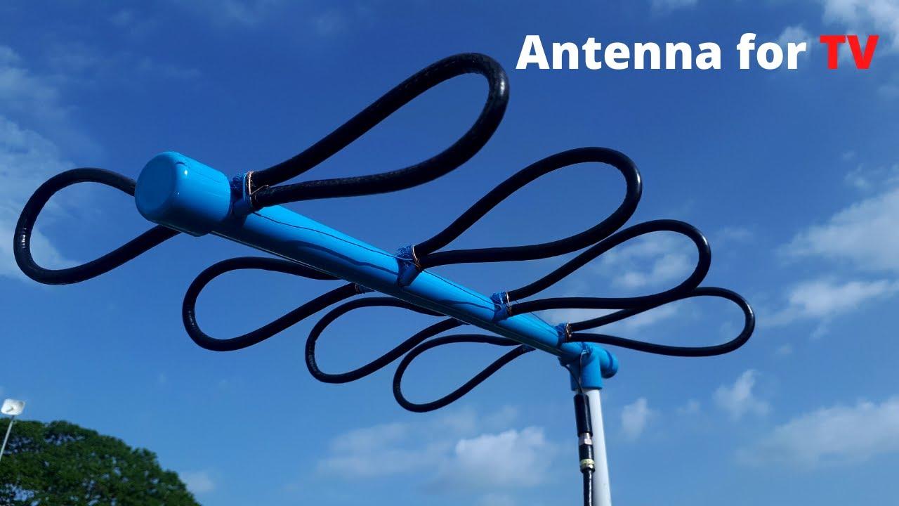 Impresionante!! Antena para tv con cable coaxial y pvc - Evita rayo 2020