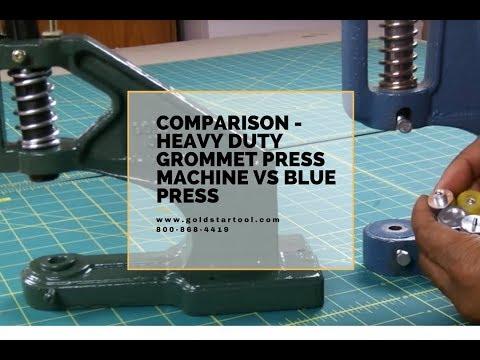 Goldstar green grommet/snap press vs the blue press