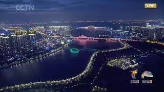 Dazzling light display in Xiamen